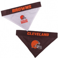 Cleveland Browns Reversible Mesh Dog Bandana