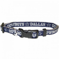 Dallas Cowboys Ribbon Dog Collar
