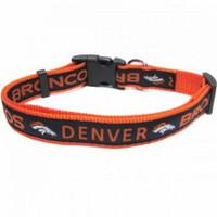 Denver Broncos Ribbon Dog Collar