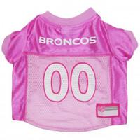 Denver Broncos Pink Dog Jersey