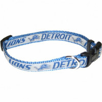 Detroit Lions Ribbon Dog Collar
