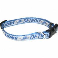 Detroit Lions Ribbon Dog Collar