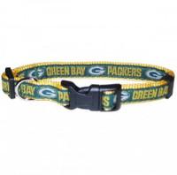 Green Bay Packers Ribbon Dog Collar