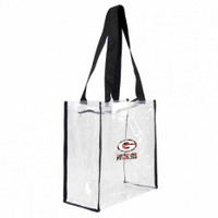 Green Bay Packers Floral Clear Square Stadium Tote