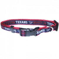 Houston Texans Ribbon Dog Collar