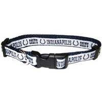 Indianapolis Colts Ribbon Dog Collar