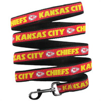 Kansas City Chiefs Ribbon Dog Leash