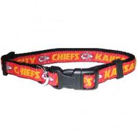 Kansas City Chiefs Ribbon Dog Collar