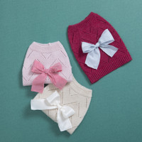 Louisdog Ribbon Pointelle Cashmere Sweater