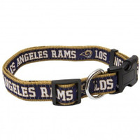 Los Angeles Rams Ribbon Dog Collar