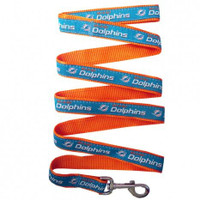 Miami Dolphins Ribbon Dog Leash