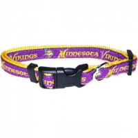 Minnesota Vikings Ribbon Dog Collar