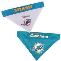 Miami Dolphins Reversible Mesh Dog Bandana