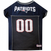 New England Patriots Dog Jersey - Gray Trim