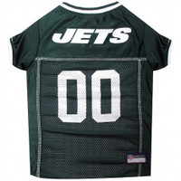 New York Jets Dog Jersey - White Trim