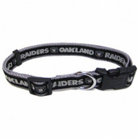 Oakland Raiders Ribbon Dog Collar