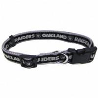 Oakland Raiders Ribbon Dog Collar