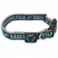 Philadelphia Eagles Ribbon Dog Collar