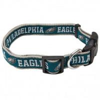 Philadelphia Eagles Ribbon Dog Collar