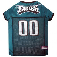 Philadelphia Eagles Dog Jersey - White Trim