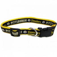 Pittsburgh Steelers Ribbon Dog Collar