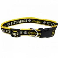 Pittsburgh Steelers Ribbon Dog Collar