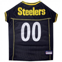 Pittsburgh Steelers Dog Jersey - White Trim