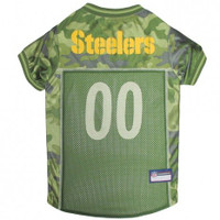Pittsburgh Steelers Camo Dog Jersey