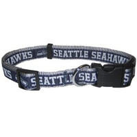 Seattle Seahawks Ribbon Dog Collar