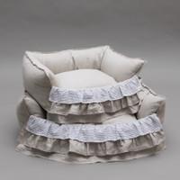 Louisdog Linen Frill Boom Bed
