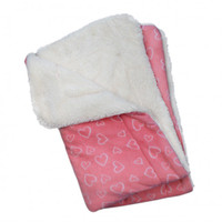 Blush of Hearts Fleece/Ultra-Plush Blanket