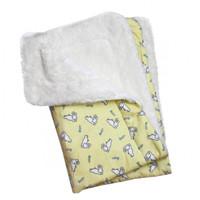 Hopping Bunny Flannel/Ultra-Plush Blanket