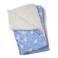 Snowman & Snowflakes Flannel/Ultra-Plush Blanket