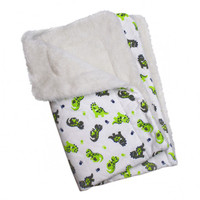 Playful Dinosaur Flannel/Ultra-Plush Blanket