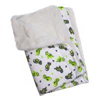Playful Dinosaur Flannel/Ultra-Plush Blanket