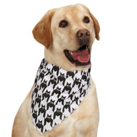 Houndstooth Bat Dog Bandana