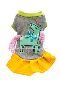 Pink & Green Unicorn Dog Dress