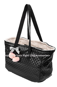Black and Dots Dog Carrier