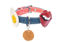 Egg & Lipstick Dog Collar
