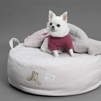 Louisdog Oxford Applique Organic Cushion