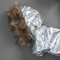 Louisdog Hologram Fur Goose Down