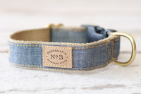 Chambray Collar & Lead
