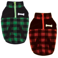 Buffalo Plaid Fleece Jacket