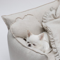 Louisdog Irish Linen Pillow