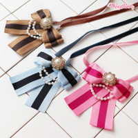 Wooflink Stripe Bow Necklace