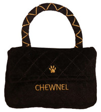 Chewnel Classique Black Purse Dog Toy