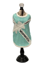 Wooffany Houndstooth White Ribbon Tank
