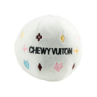 White Chewy Vuiton Ball Toy