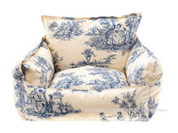 Chinese Porcelain Sofa Dog Bed - Blue