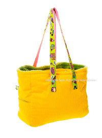Sweets And Cakes Dog Carrier - Sun Yellow